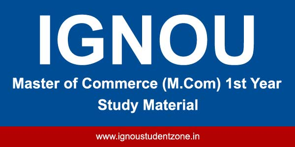 Ignou M.Com 1st year books free download