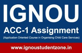 Ignou ACC 1 assignment question paper