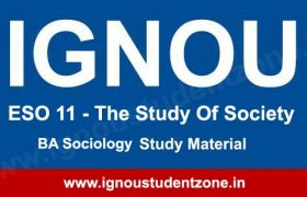 Ignou ESO 11 book or study material