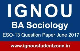 Ignou ESO 13 question paper June 2017