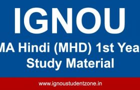Ignou MHD books for first year courses