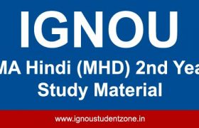 ignou mhd books for 2nd year courses