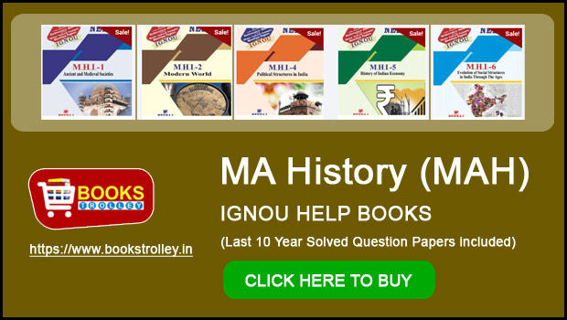 IGNOU MA History Books & Solved Question Papers