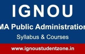 Ignou MA Public Administration Syllabus