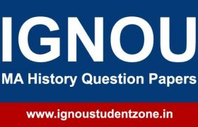 Ignou MAH question papers of previous years