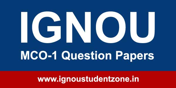 Ignou MCO 1 Question Papers