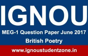 MEG 1 Ignou question paper of June 2017 term end examination
