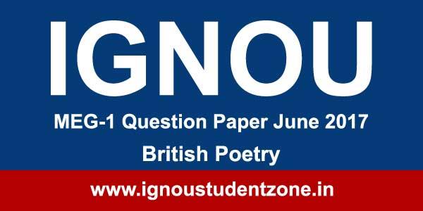 MEG 1 Ignou question paper of June 2017 term end examination