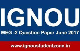MEG-2 Ignou Question paper June 2017