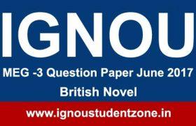 MEG 3 Ignou Question paper June 2017