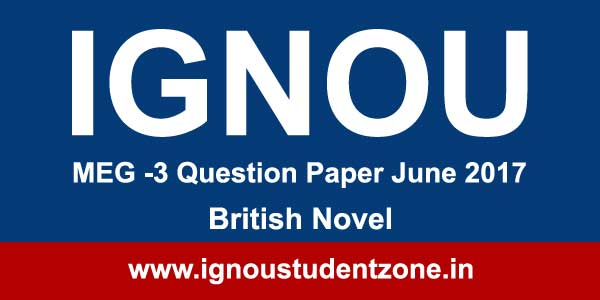 MEG 3 Ignou Question paper June 2017