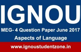 Ignou MEG 4 Question Paper June 2017