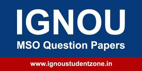 Ignou MSO question papers of previous years