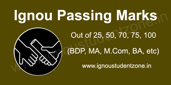 passing marks in Ignou