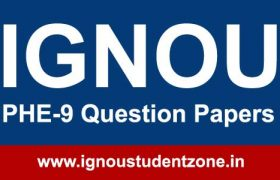 Ignou PHE 9 Question Paper