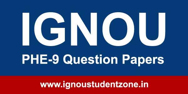 Ignou PHE 9 Question Paper
