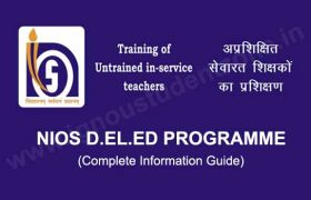 NIOS DELED Programme Information guide