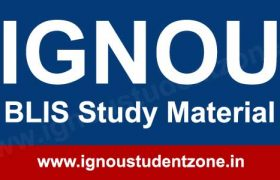 Ignou BLIS books / study material free download