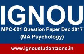 Ignou MPC 001 question paper (MA Psychology)