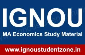 IGNOU MA Economics Books & Study Material free download