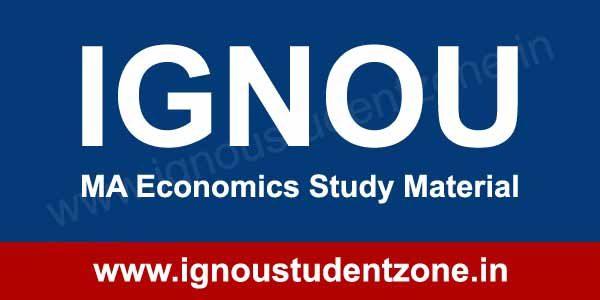 IGNOU MA Economics Books & Study Material - Ignou Student Zone