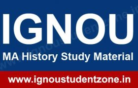 IGNOU MA History Books & Study Material