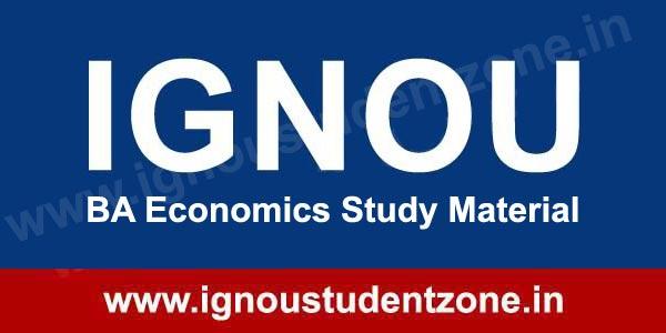 IGNOU BA Economics Books & Study Material