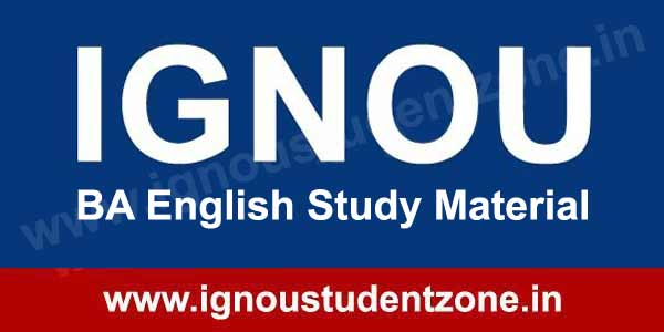 IGNOU BA English Books & Study Material free download