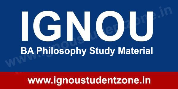 IGNOU BA Philosophy Study Material