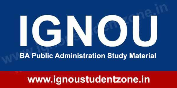 IGNOU BA Public Administration Books & Study Material