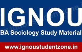 IGNOU BA Sociology Books & Study Material