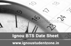 IGNOU BA Tourism Date Sheet Download