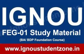 IGNOU FEG 1 Book & Study Material