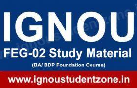 IGNOU FEG 2 Book & study Material