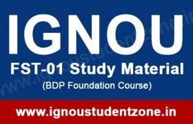 IGNOU FST 1 books free download