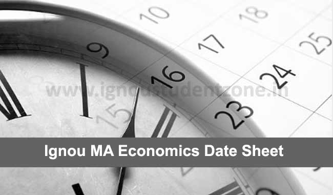 IGNOU MEC Date Sheet June & December exams