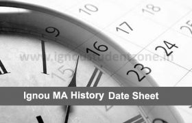 IGNOU MAH Date Sheet (MA History)
