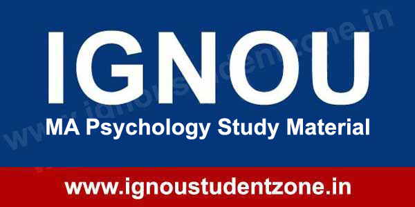 IGNOU MA Psychology Study Material Free Download