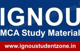 IGNOU MCA Books & Study Material free