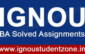 IGNOU BDP BA solved assignments free download