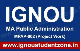 IGNOU MA Public Administration (MPA) Solved Assignments, Question Papers, Books, Study Material