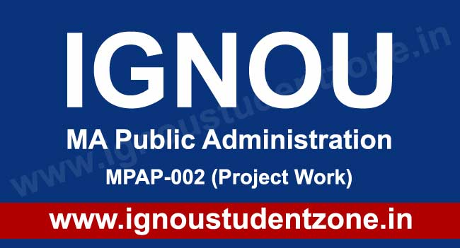 ignou mpa project work, synopsis, report