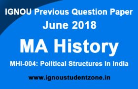 IGNOU MHI 4 Question Paper June 2018