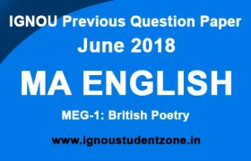 IGNOU MEG 1 Question Paper June 2018