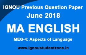 IGNOU MEG 4 Question Paper June 2018