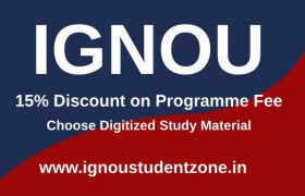 ignou programme fee discount choose digitized study material