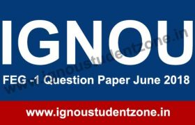 IGNOU FEG 1 Question Paper June 2018
