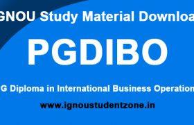 IGNOU PGDIBO Study Material
