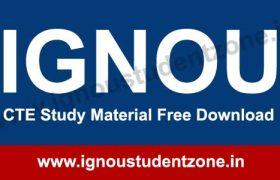 IGNOU CTE Study Material / Books