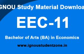 IGNOU EEC 11 Study Material